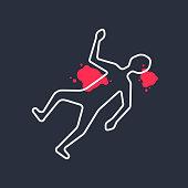 outline body like simple crime scene