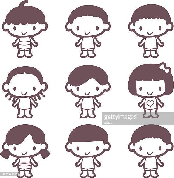 Übersicht: Hübsche Multi ethnischen Kinder (Kinder aus aller Welt