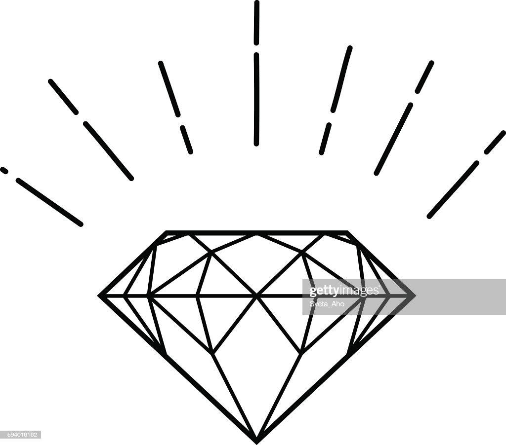outline hipster diamond