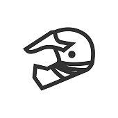 Outline Icon - Motorcycle helmet