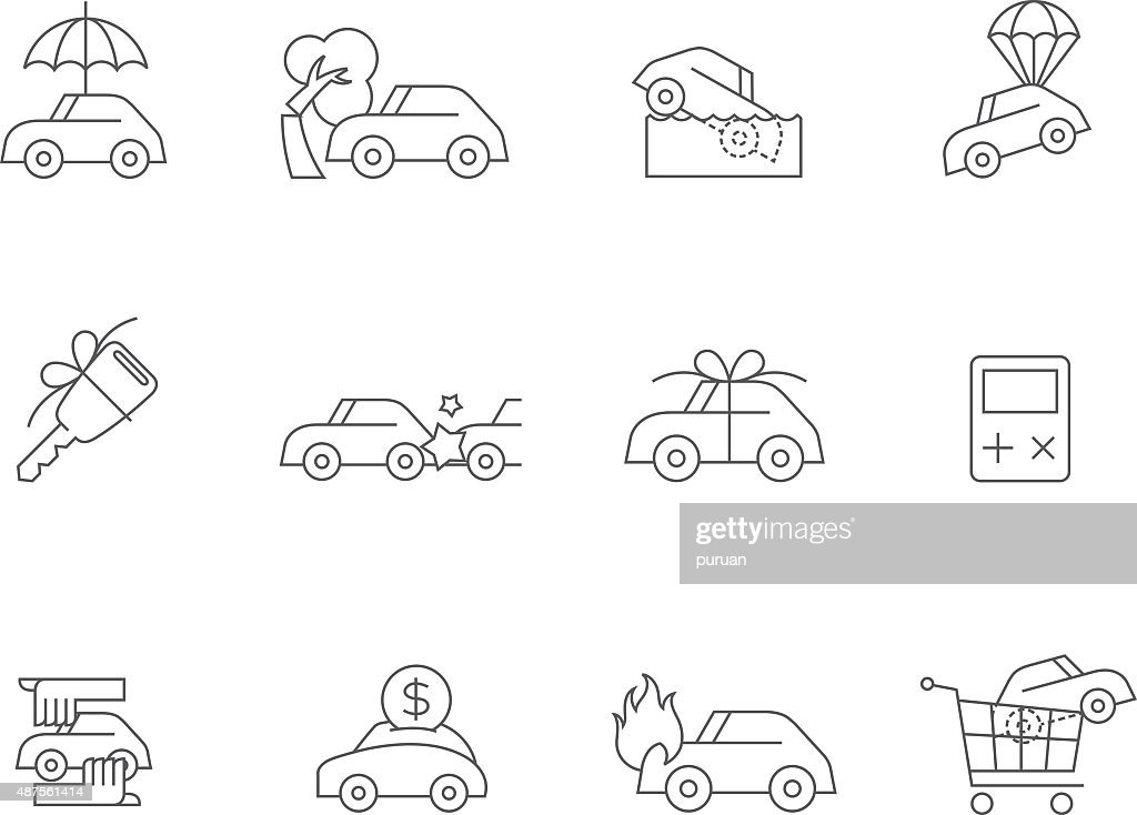 Outline Icons - Auto Insurance