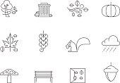 Outline Icons - Autumn