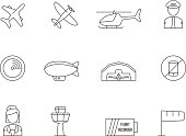 Outline Icons - Aviation