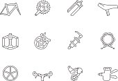 Outline Icons - Bicycle Parts