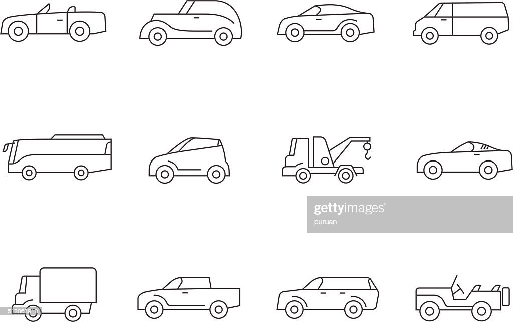 Outline Icons - Cars