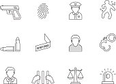 Outline Icons - Crime
