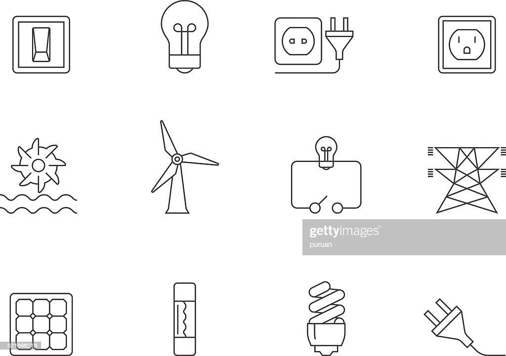 Outline Icons - Electricity