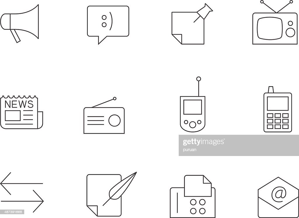 Outline Icons - More Communication