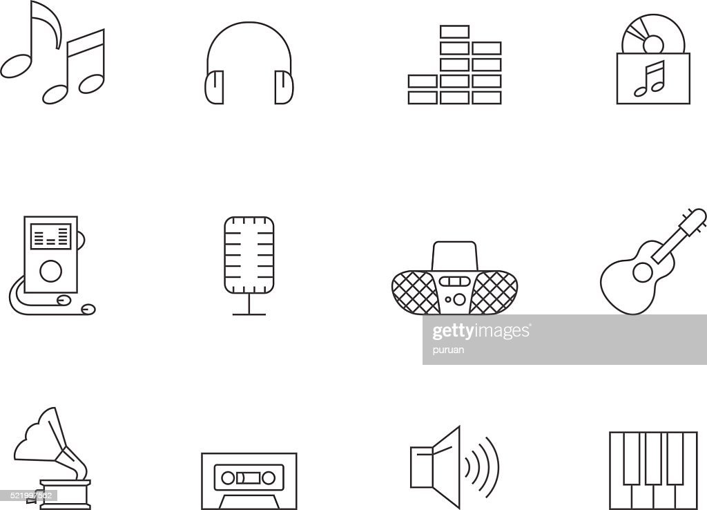 Outline Icons - Music