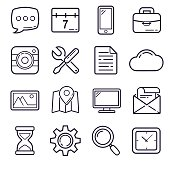 Outline Icons, set 1