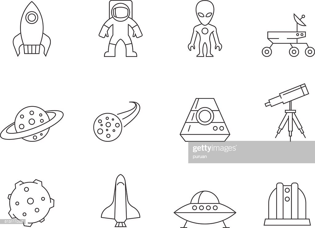 Outline Icons - Space
