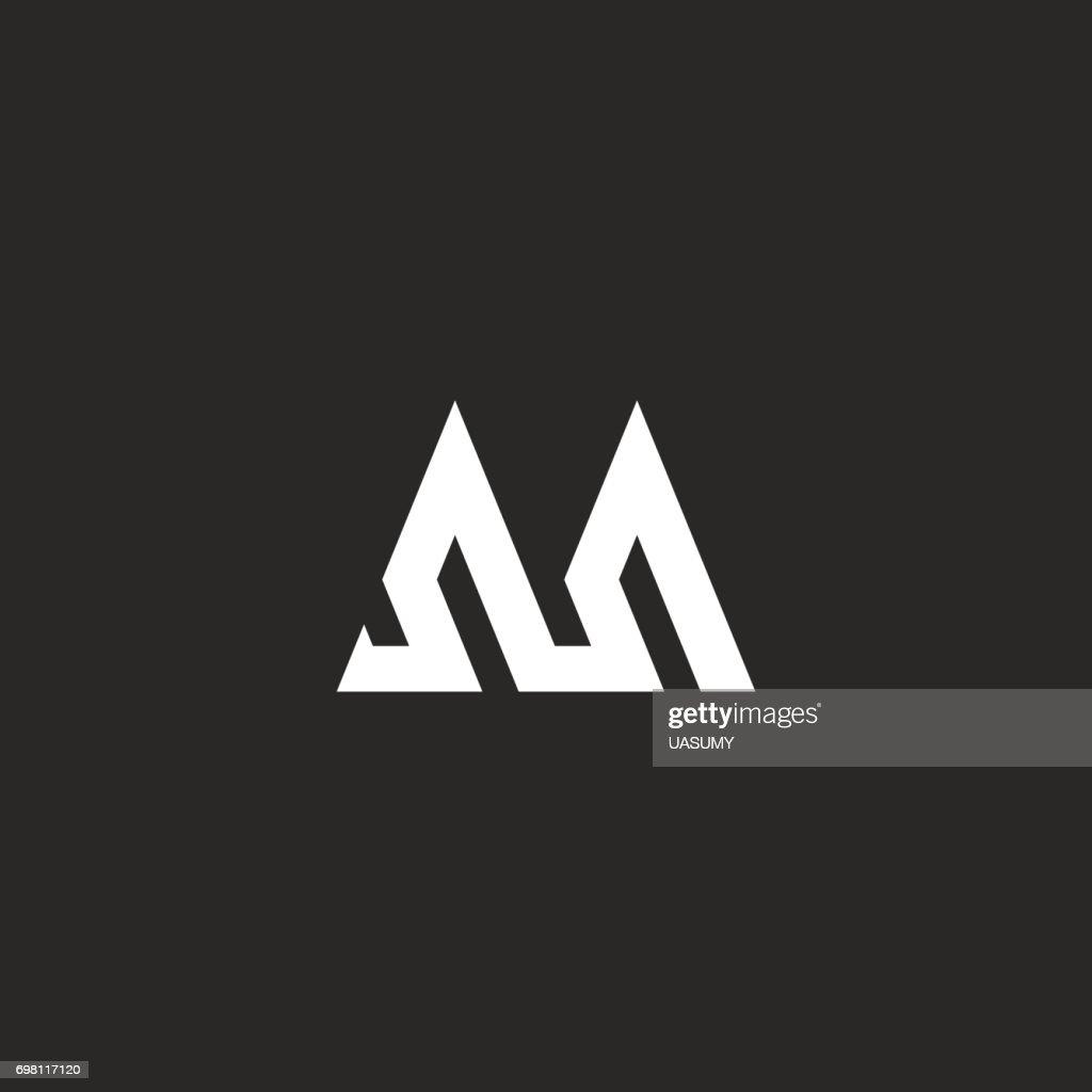 ... Hipster Ersten Monogramm Mockup, Gebrochene Linie Abstrakte  Geometrische Wellenform, Einfachen Streifen Grafische Identität Symbol, Hochzeit  Einladung ...