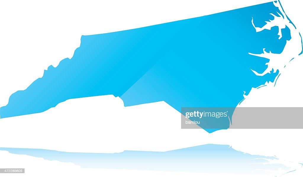 Outline of North Carolina highlighted in blue