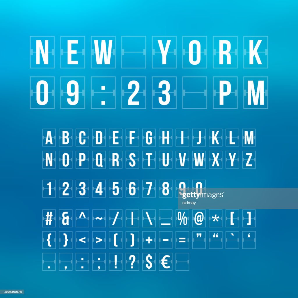Outline sountdown timer and date, flat calendar scoreboard