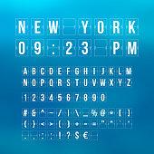 Outline sountdown timer and date, flat calendar scoreboard