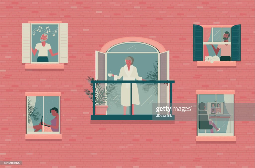 Outside looking in concept : stock illustration