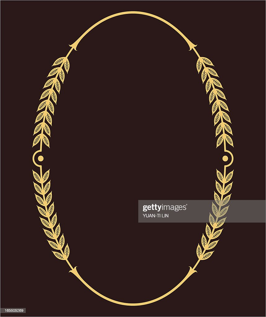 bd76b573480 Oval Flourish Frame   stock vector