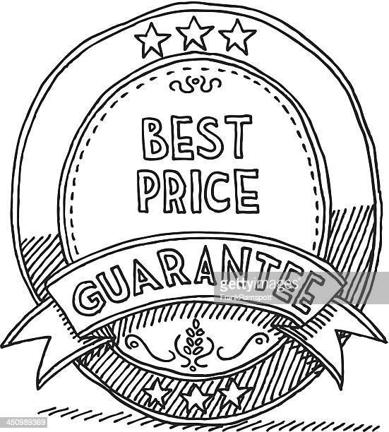 Ovale Label Band Bestpreisgarantie Zeichnung