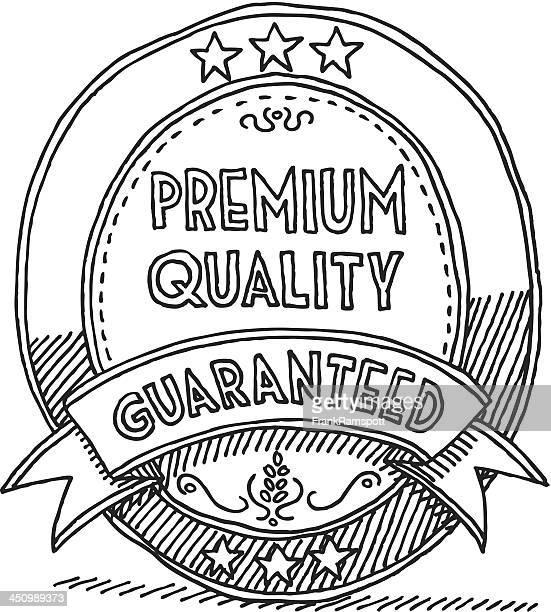 Ovale Label Band Premium-Qualität garantiert Zeichnung