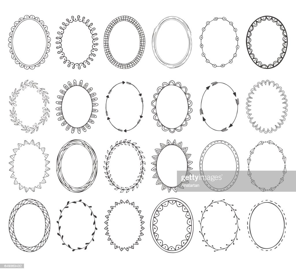 Oval photo frames