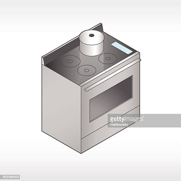 Oven And Stove Illustration