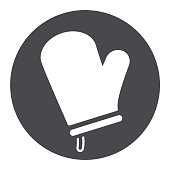 oven glove circle icon