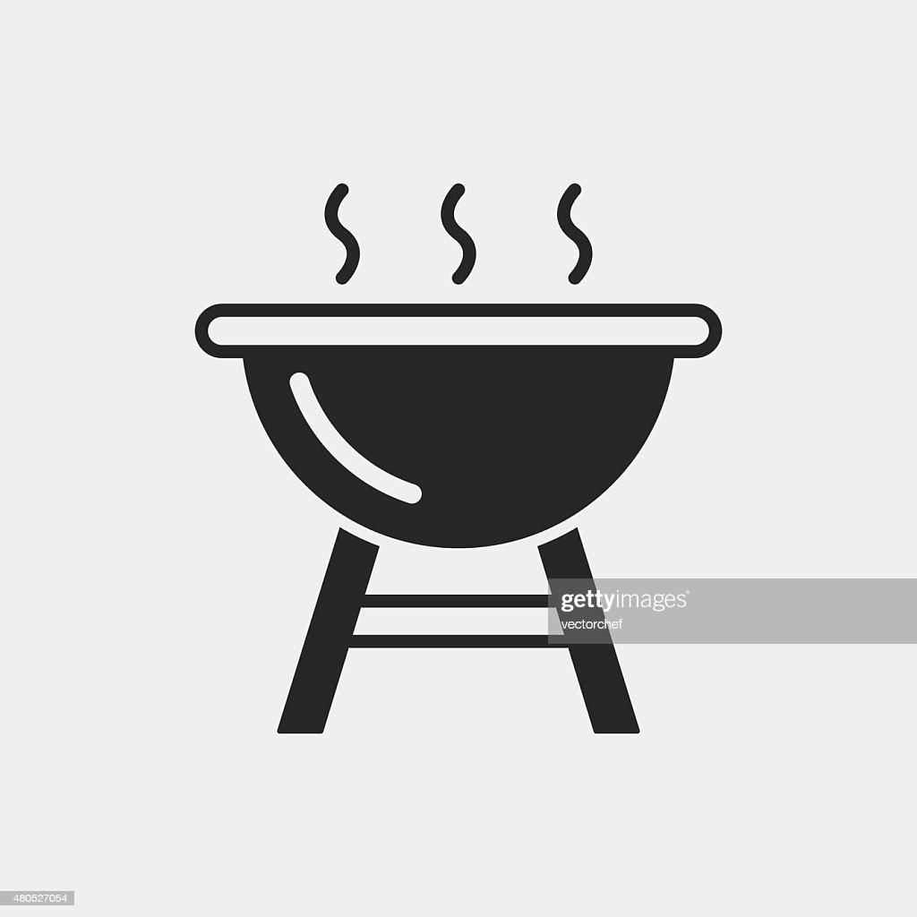Grill Ofen-Symbol : Vektorgrafik