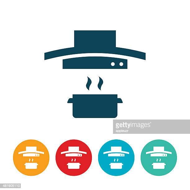 Oven Range Hood With Pot Icon
