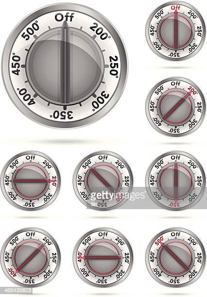 オーブン温度ノブ - オーブン点のイラスト素材/クリップアート素材/マンガ素材/アイコン素材