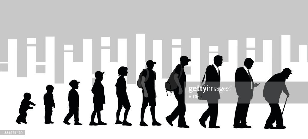 Over The Years : stock illustration