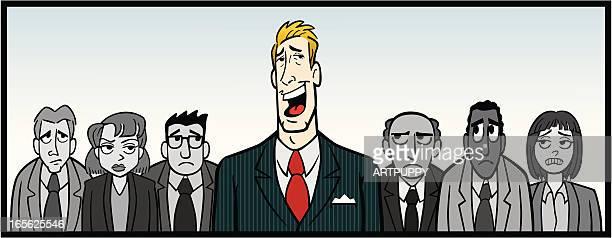 overbearing boss - vanity stock illustrations