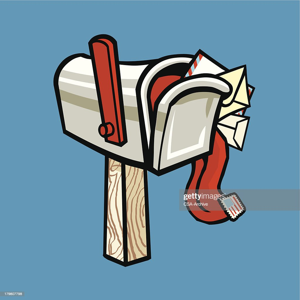 overflowing mailbox vector art getty images rh gettyimages com Vintage Clip Art Mailbox Animated Dancing Clip Art