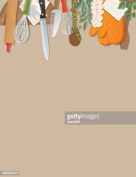 overhead angle of foods and cooking - food state stock illustrations, clip art, cartoons, & icons