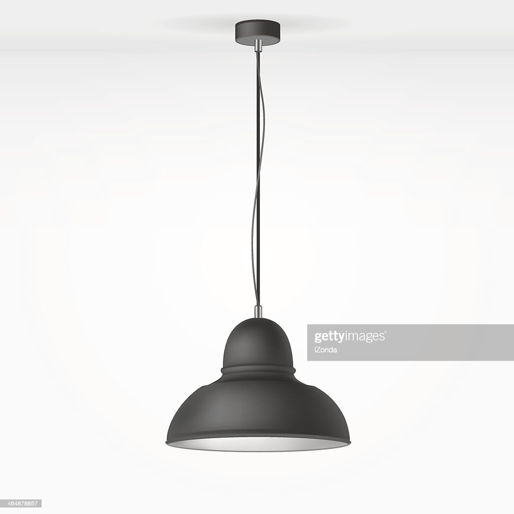 Overhead Lamp Hanging From The Ceiling Stock Vector