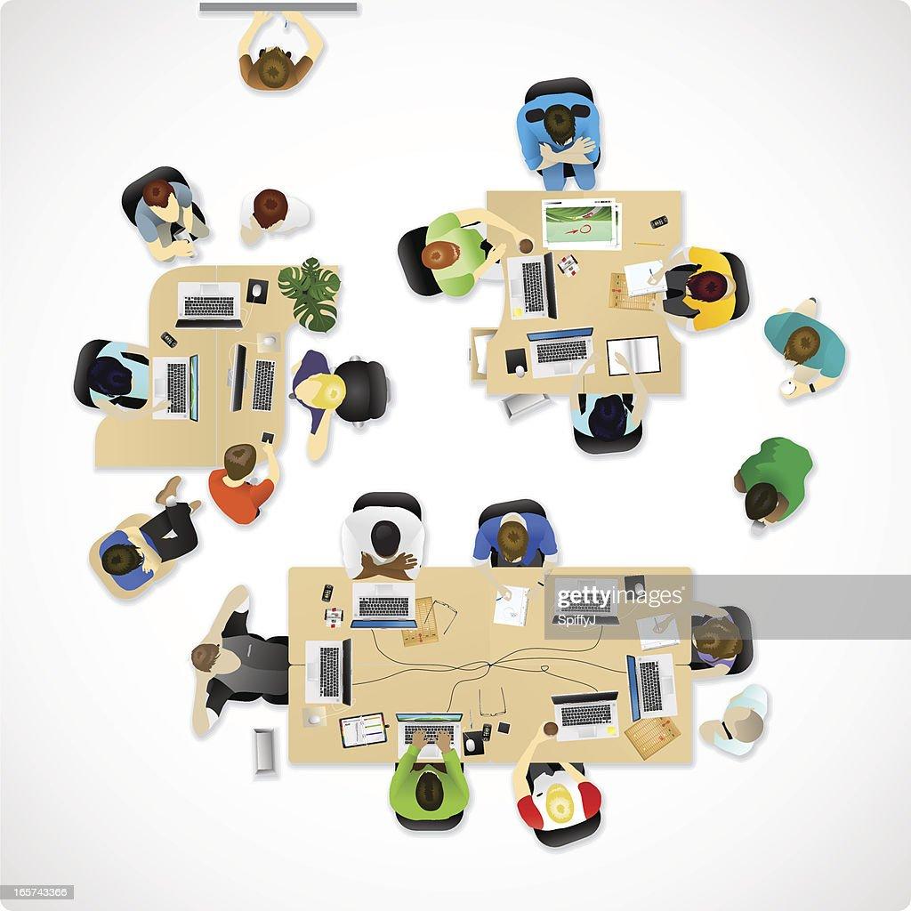 Overhead office or agency : stock vector