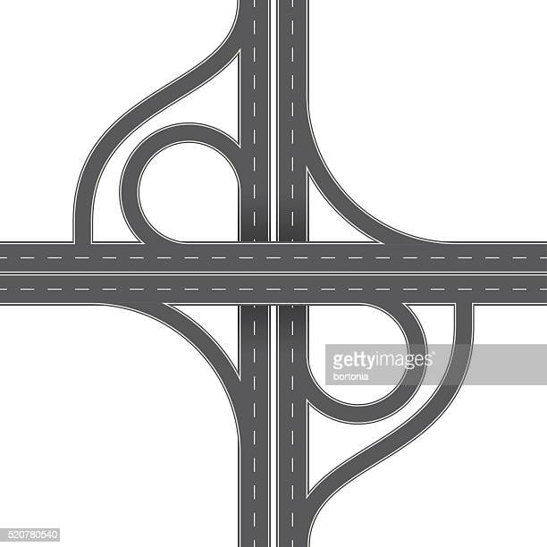 Overhead Perspective View of a Traffic Interchange