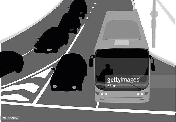 overhead view of a busy street - turn signal stock illustrations, clip art, cartoons, & icons