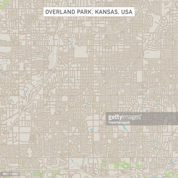 Overland Park, Kansas USA Stadtstraße Karte