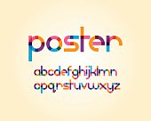 overlapping colorful sharp edge line font - Bold