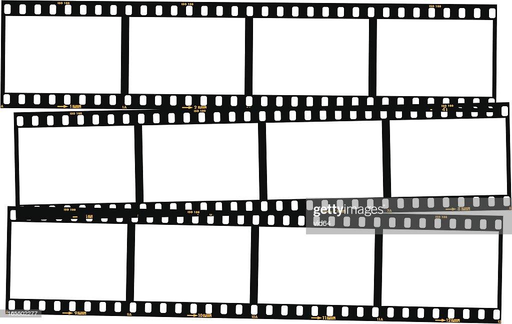 Überlappende film-Streifen-Farbe : Stock-Illustration