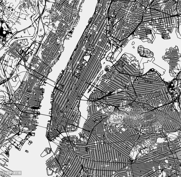 illustrations, cliparts, dessins animés et icônes de vue sur la carte de la structure de la ville de new york - new york city
