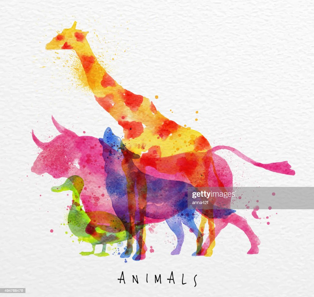 Overprint animals bull