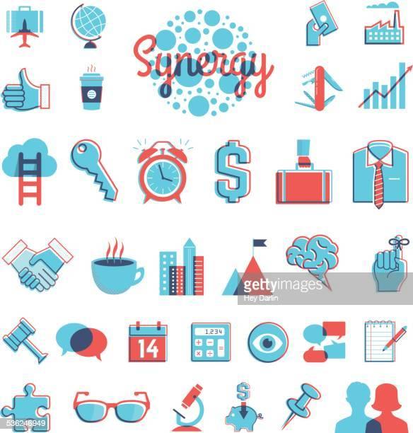 overprint graphics - business - multiple exposure stock illustrations