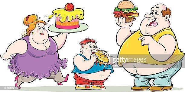overweight family - heavy stock illustrations, clip art, cartoons, & icons