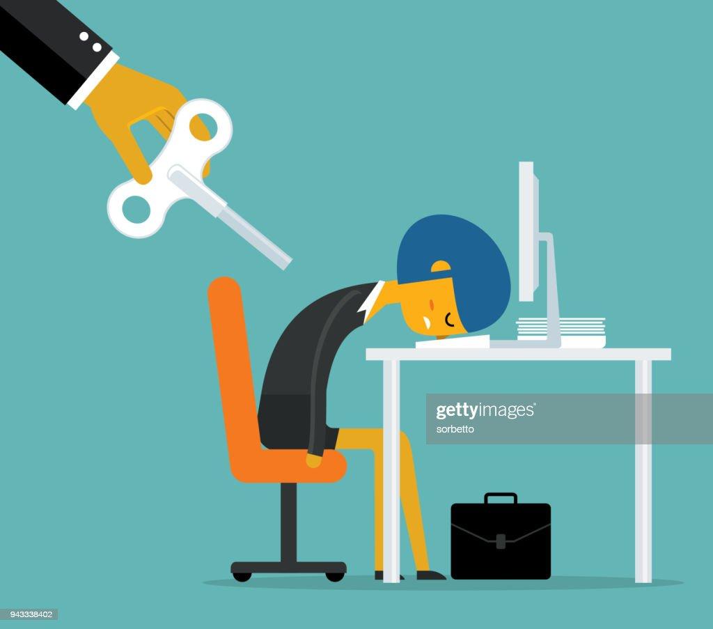 Overwork - Businesswoman : stock illustration