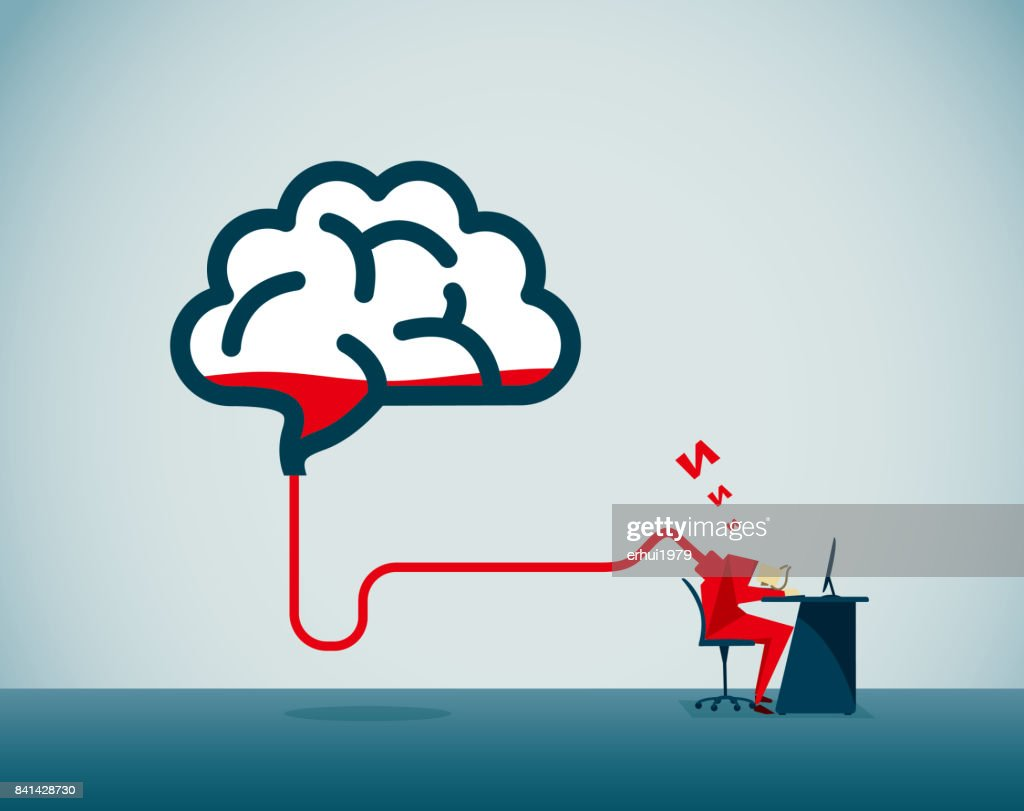 overworked : stock illustration