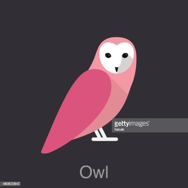 illustrations, cliparts, dessins animés et icônes de chouette oiseau series, - chouette