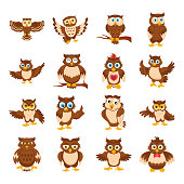 Owl Cartoon icons
