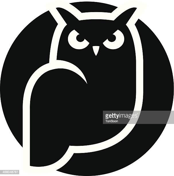 owl icon - owl stock illustrations, clip art, cartoons, & icons