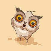 Owl is surprised